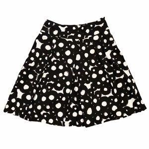 Sandro Paris Black/White Abstract Skater Skirt